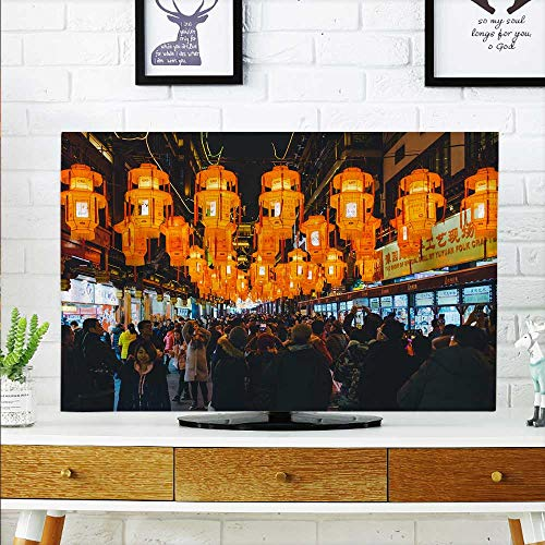 52 Wall Mount Lantern - aolankaili Cover for Wall Mount tv The Lantern Festival Guandeng populations Cover Mount tv W30 x H50 INCH/TV 52