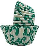 Regency Wraps Greaseproof Baking Cups, Green Ivy, Standard, 40 Count