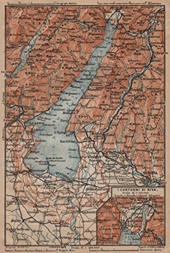 Amazon lago dilake garda riva salo peschiera verona topo map riva salo peschiera verona topo map italy gumiabroncs Choice Image