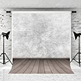 Kate 5x7ft Abstract Photography Backdrop Wood Floor Retro Style White Photo Background Microfiber Backdrops for Photographers