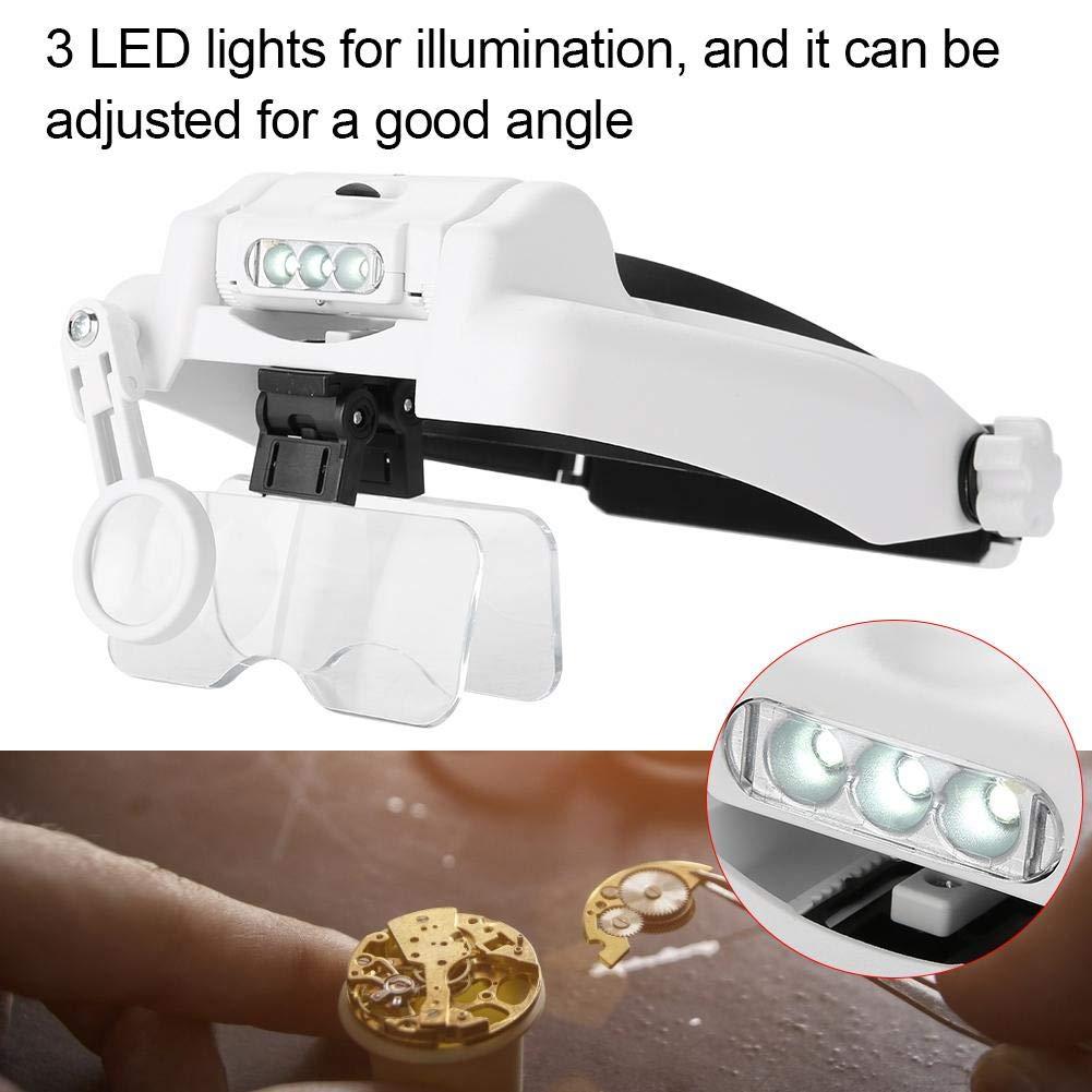 Lettura Hobb Lettura professionale di ricarica USB Lenti di ingrandimento per gioielli Orologi Riparazione Lente di ingrandimento a LED