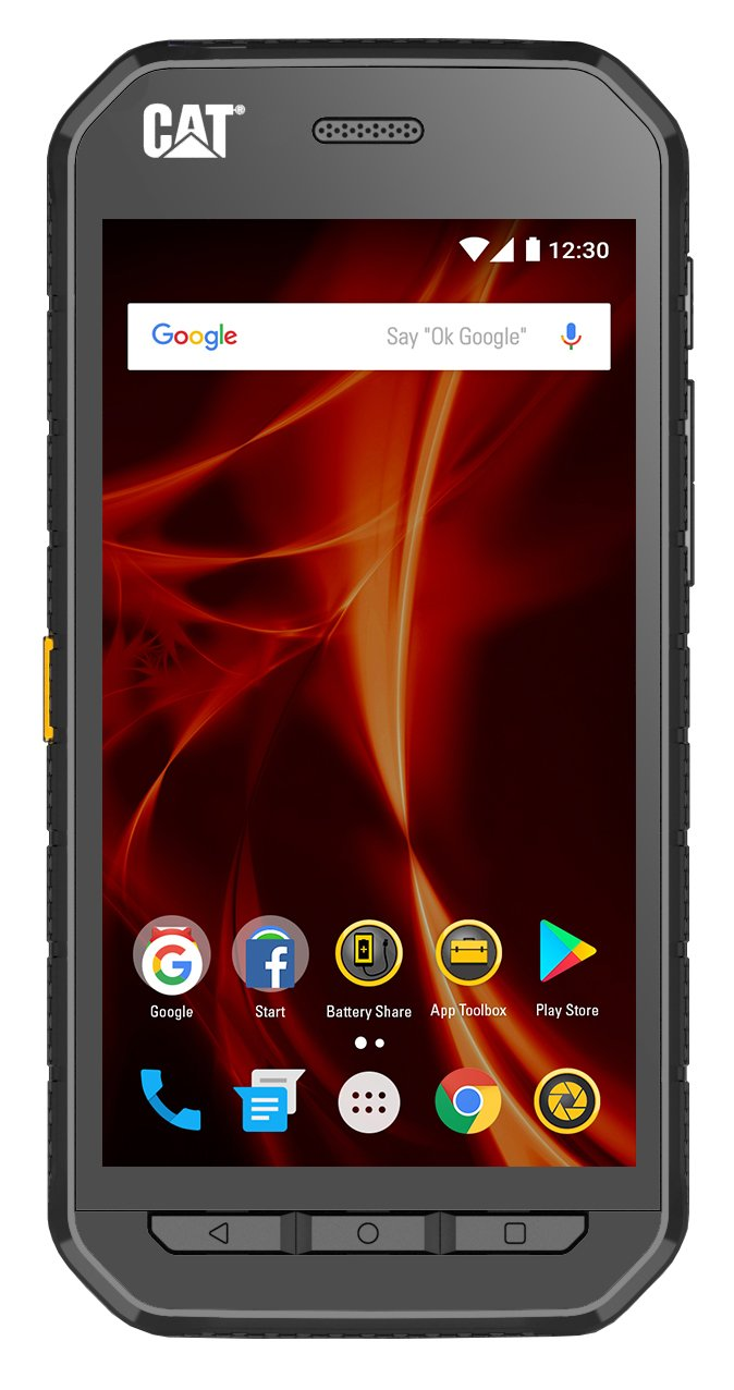 Caterpillar CAT S41 Dual-SIM 32GB Rugged IP68 (GSM Only, No CDMA) Factory Unlocked 4G/LTE Smartphone (Black) - UK/EU Version