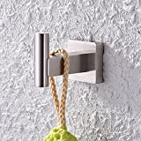 KES SUS304 Stainless Steel Bathroom Single Coat and Robe Hook Wall Mount Brushed Finish, A2260-2