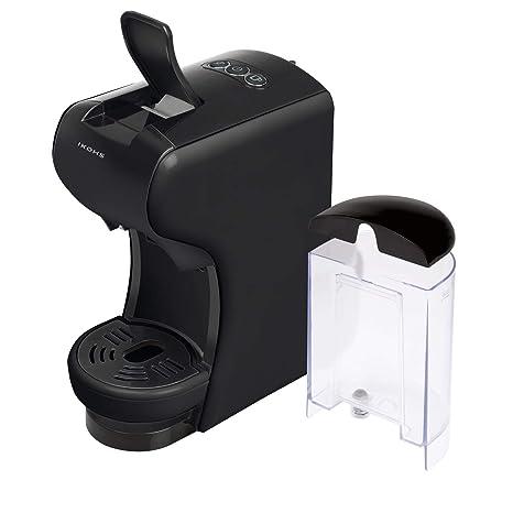 IKOHS Máquina de Café Espresso Italiano - Cafetera Multi Cápsulas Nespresso 3 en 1 Negro