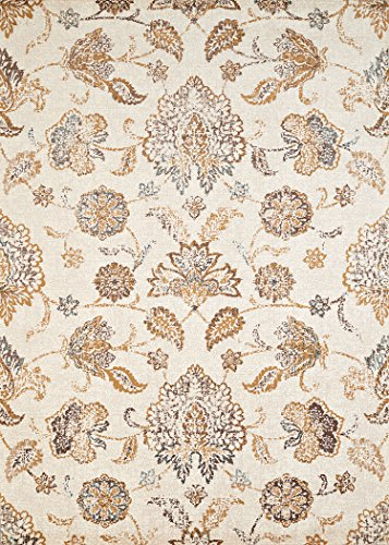 United Weavers Bridges Area Rug 3001-00197 Via Vicosa Linen Vines Petals 9' 10