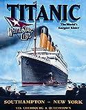Titanic White Star Line Cruise Ship Retro Vintage Tin Sign - 13x16 , 13x16