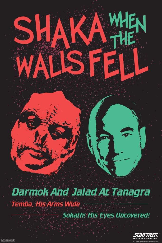 Pyramid America Star Trek The Next Generation Shaka When The Walls Fell Dark Cool Wall Decor Art Print Poster 12x18