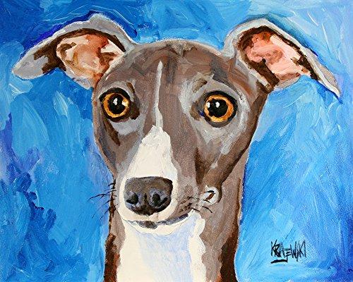 Italian Greyhound Dog Fine Art Print on 100% Cotton Watercolor Paper (Art Greyhound Dog)