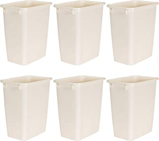 product image for Rubbermaid FG280500BISQU 21 Qt Bisque Wastebaskets (6-Pack)