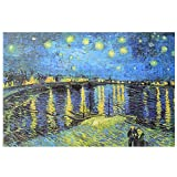 Puzzle, Adult Toy Jigsaw Puzzle Children's Puzzle Decoration Painting 3000 Pieces, World Masterpiece ( Color : Starry Night of The Rhone River )