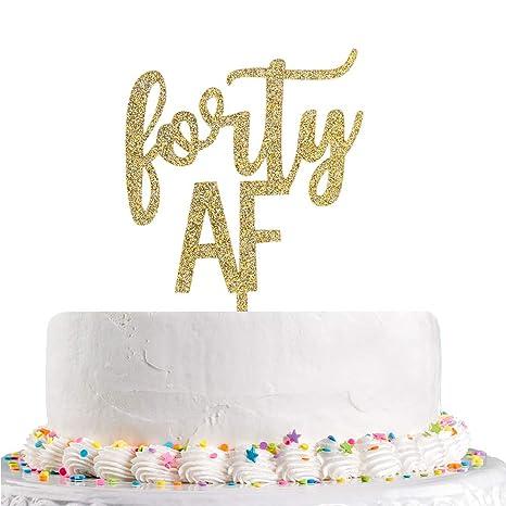 Amazon.com: Decoración para tartas de 40 aniversario de boda ...