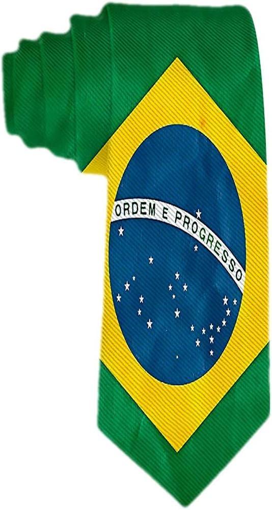 Corbata Clásica Para Hombre Corbata Bandera De Brasil Corbatas ...