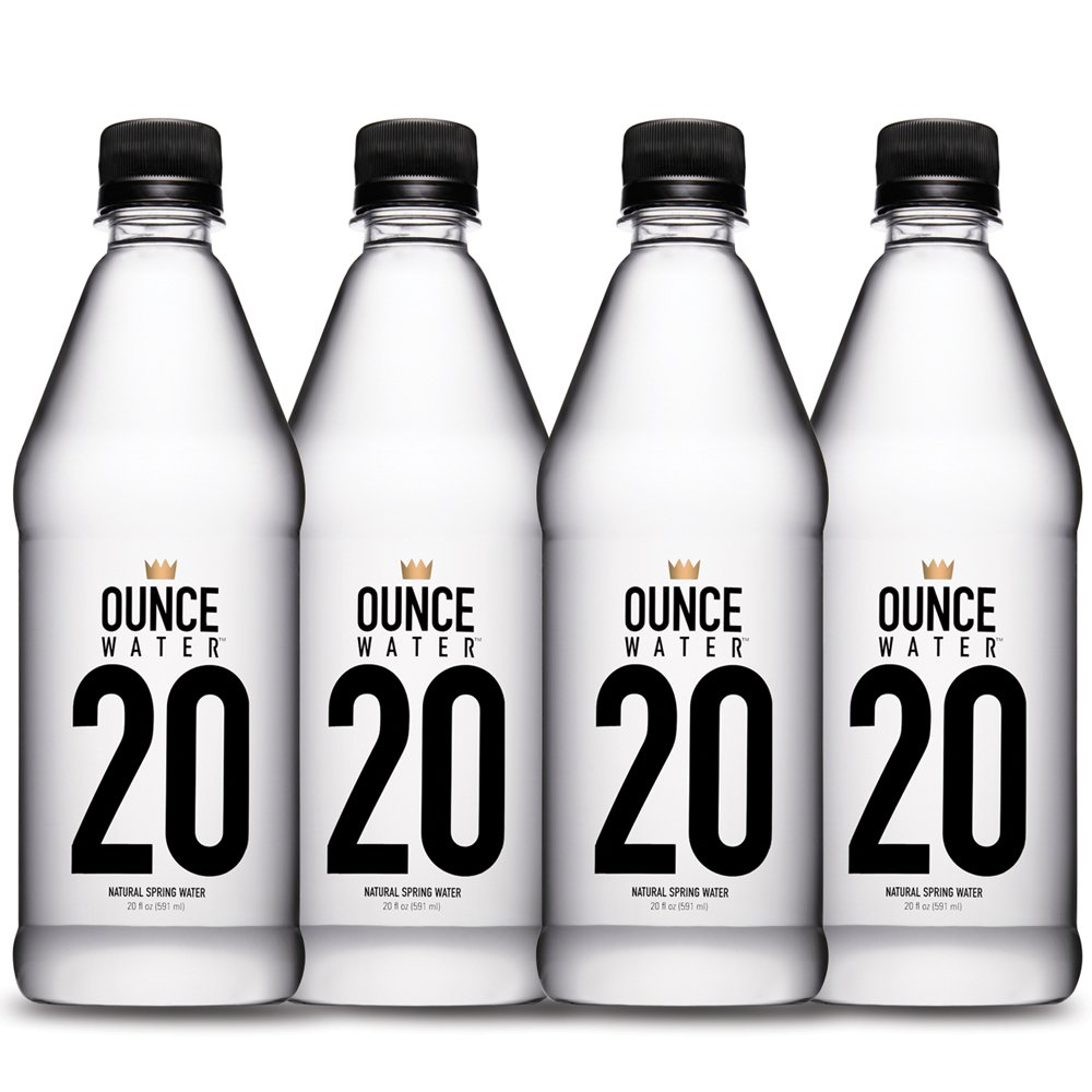 Ounce Water Natural Spring Water Bottle 4 Piece Day Pack, 20 Ounce