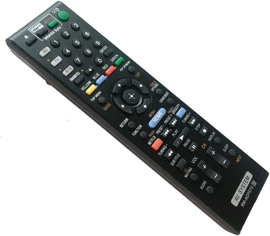 Replaced Remote Control Compatible for Sony HBD-N890W RMADP070 BDVN890W/Z BDV-E980W BDVN890W BD Blu-ray Disc DVD Home Theater AV System