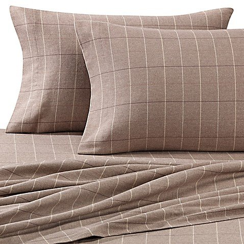 Luxury Portuguese Flannel King Pillowcases (2) Heavyweight Flannel Made in Portugal ()