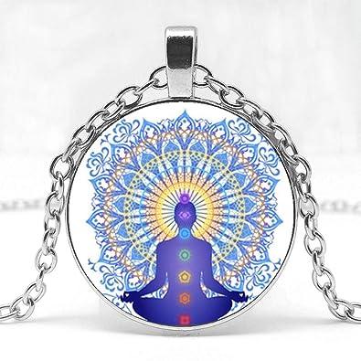 CLEARNICE Collar de Hombre, Chakra Aura Curación Collar Buda ...