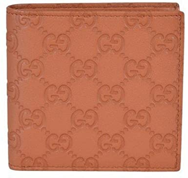 e08c2820d9ed Image Unavailable. Image not available for. Colour: Gucci Men's 150413 Tan  Leather GG Guccissima W/Coin Bifold Wallet