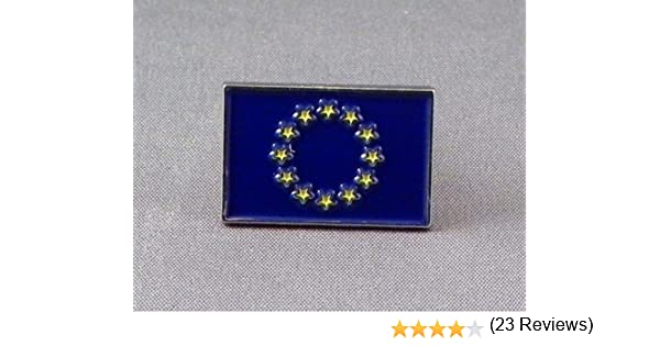 Pin de metal esmaltado, insignia broche de bandera de Europa (UE): Amazon.es: Hogar
