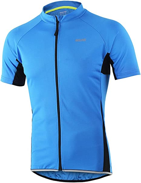 ARSUXEO Mens Slim Fit Cycling Jersey Short Sleeves Bike Bicycle MTB Shirt