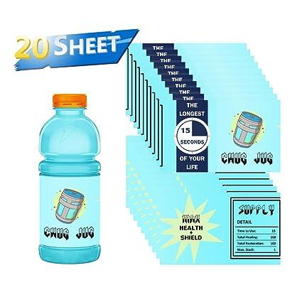Amazon.com: Etiquetas para botellas de videojuegos, para ...