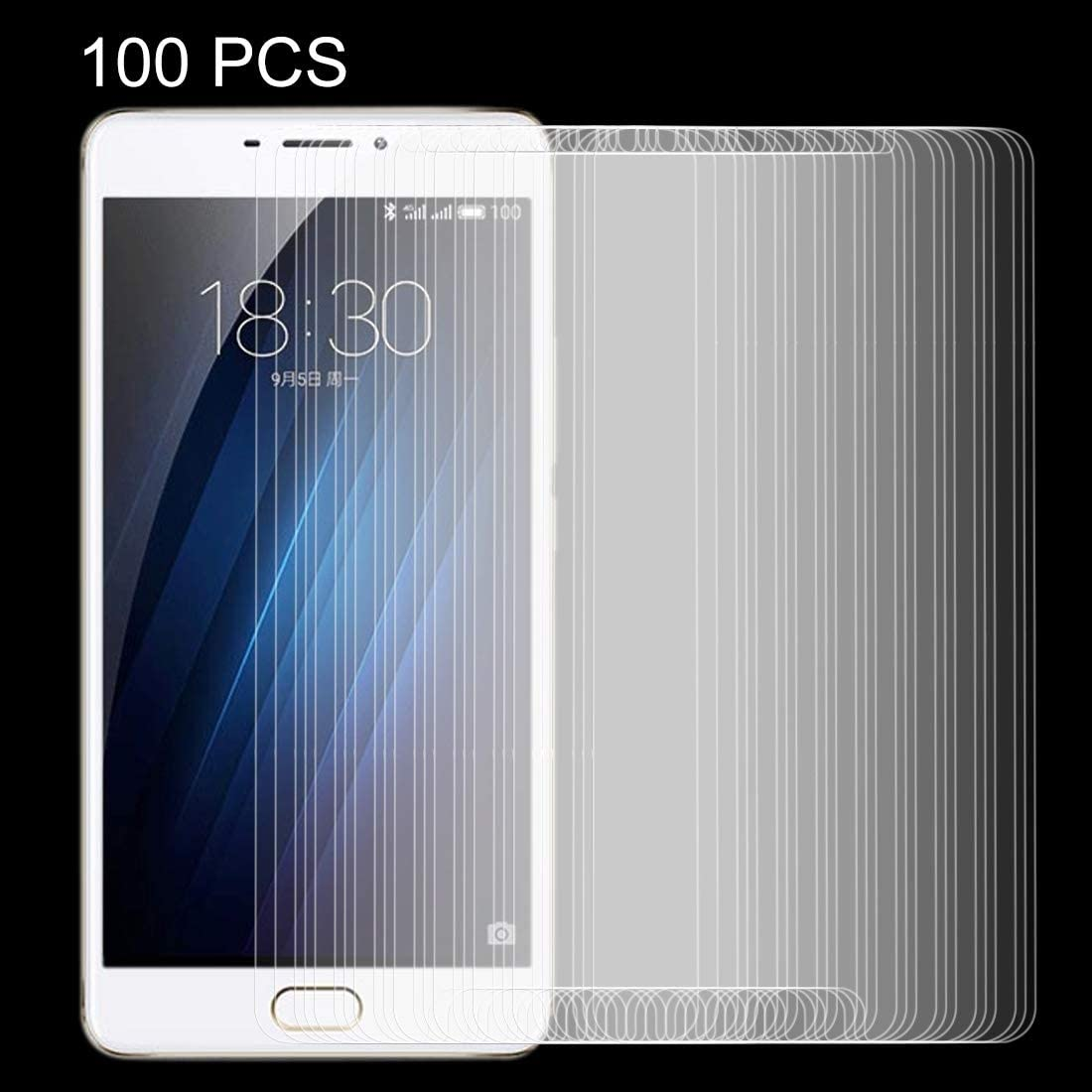 ZYS Screen Protector 100 PCS for Meizu M3 Max//Meilan Max 0.26mm 9H Surface Hardness Explosion-Proof Non-Full Screen Tempered Glass Screen Film