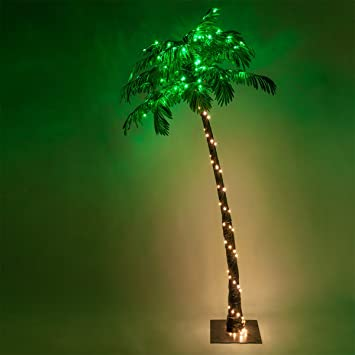 Outdoor Lighted Palm Trees Amazon kringle traditions 10 function led lighted palm tree kringle traditions 10 function led lighted palm tree pre lit palm tree indoor workwithnaturefo
