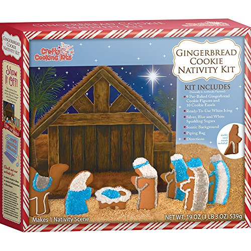Crafty Cooking Kits Cookie Nativity Kit, Gingerbread, 19 - Brand Maison