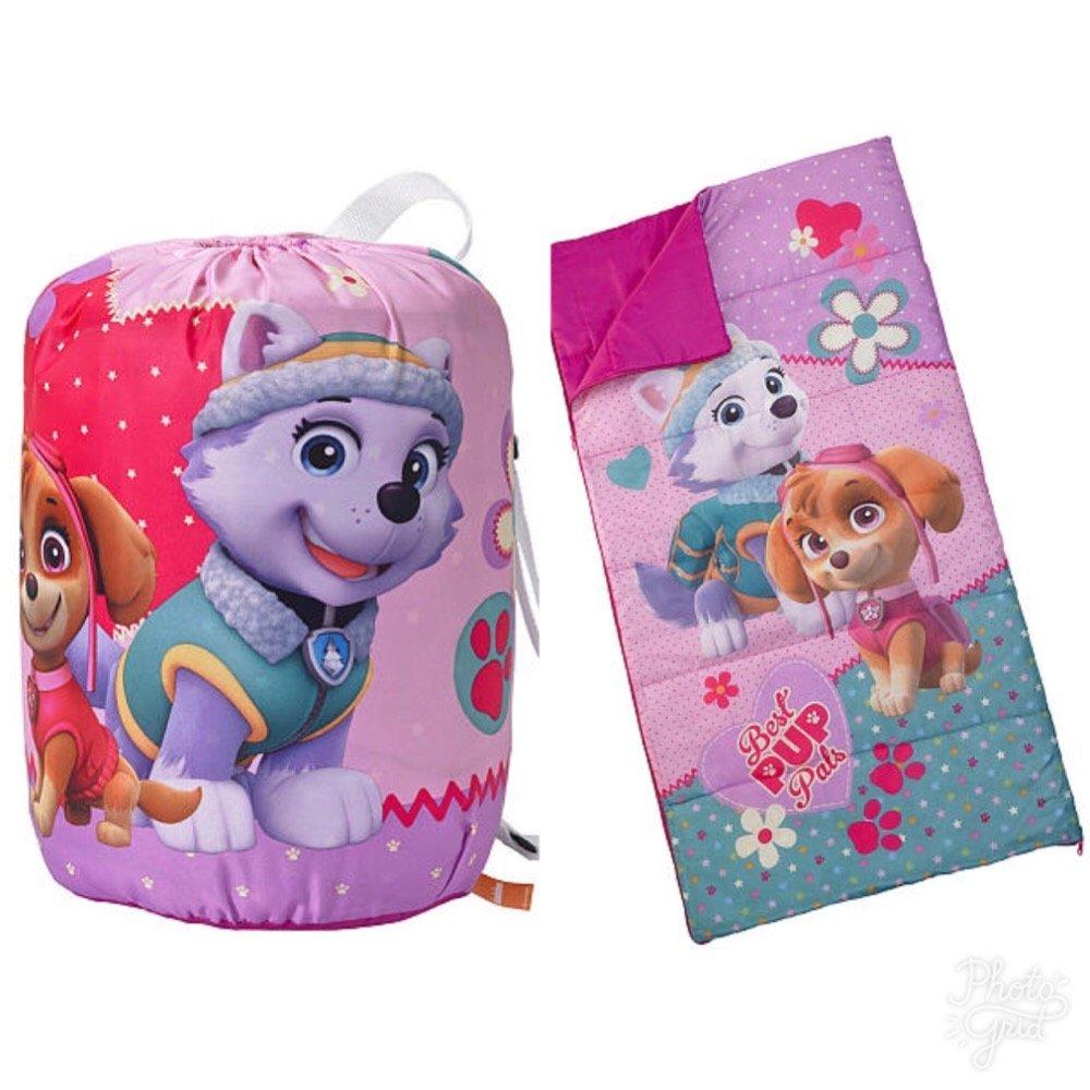 Nickelodeon Paw Patrol Girls Sleeping Bag and Carry Sack