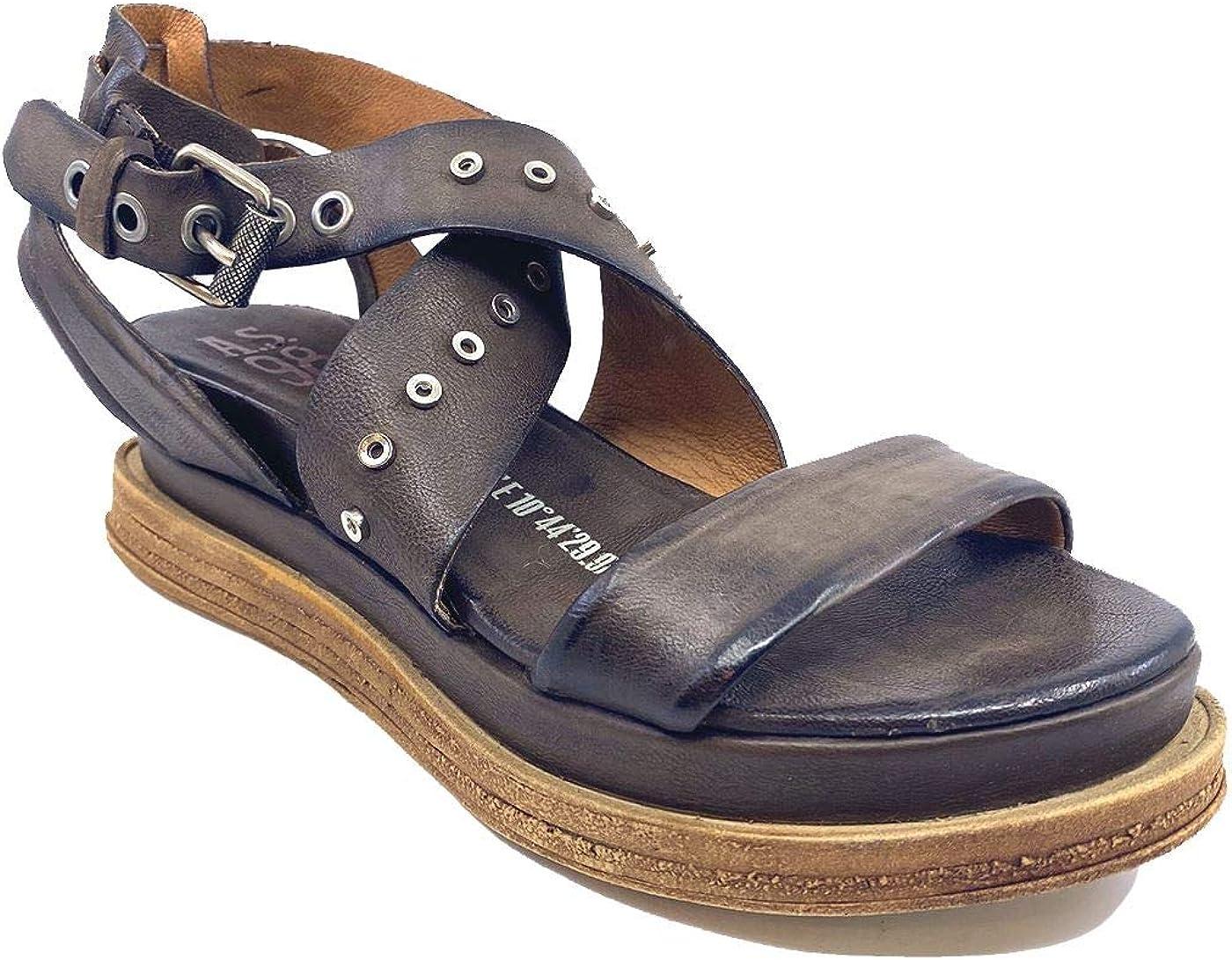 A.S. 98 A15003 - Sandalias bajas para mujer, de piel, color marrón Marrón