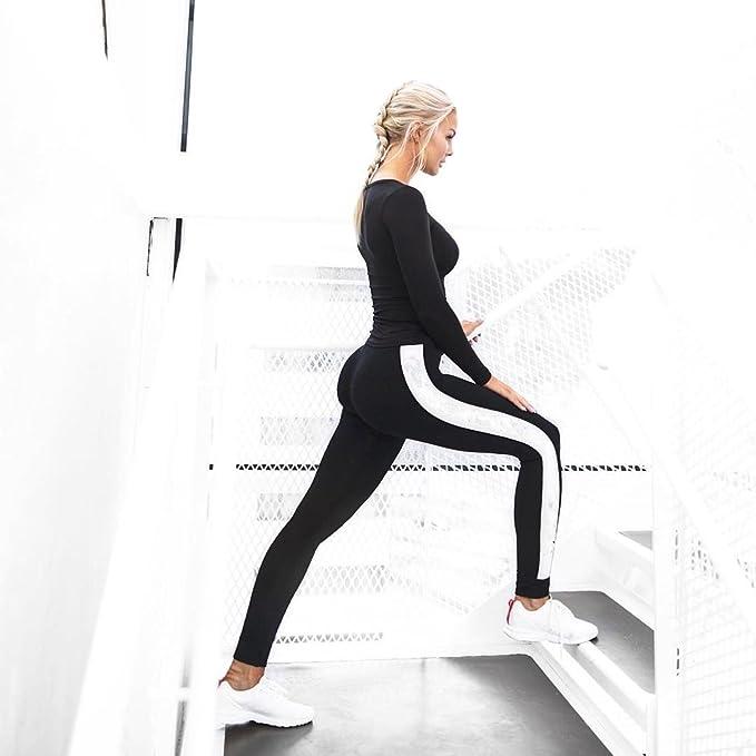 QINB Pantalones de Yoga Casual para Mujer Pantalones de chándal ...