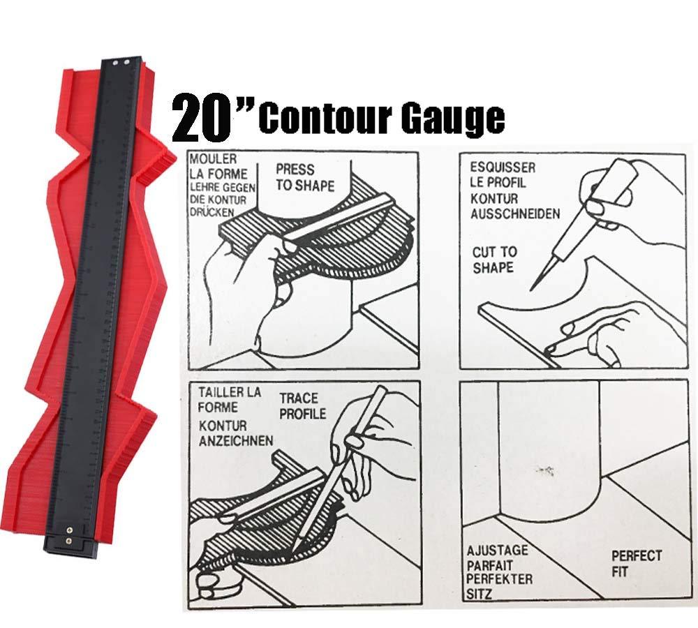 20 Inch Contour Gauge Duplicator Easy Outline Gauge Irregular Shape Instant Template Marking Gauge Woodworking DIY Project Tool by BewthU