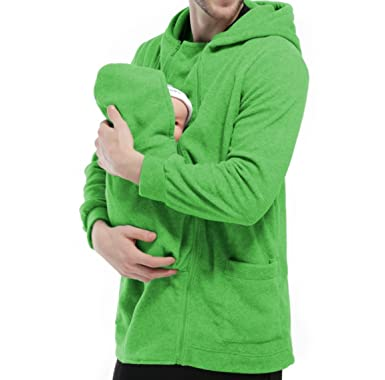 4211ed475 TUOKING Dad Kangaroo Long Sleeve Sweater Newborn Baby Carrier ...