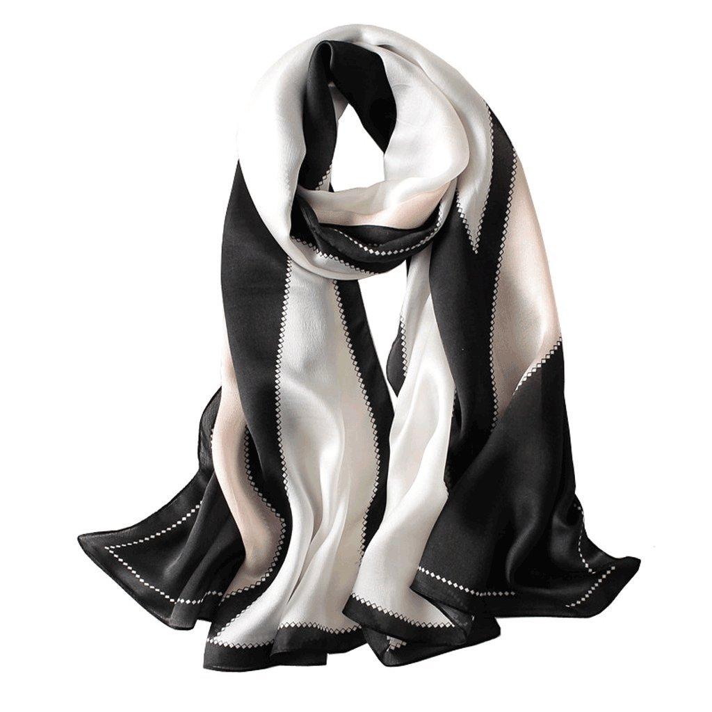 KTYX Silk Scarf Silk Scarf Shawl Dualuse Elegant Wild Scarf 180  65cm Scarf