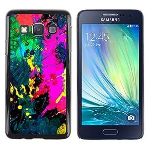 TopCaseStore / la caja del caucho duro de la cubierta de protección de la piel - Colorfol Bright Painting Modern Paint Splash - Samsung Galaxy A3 SM-A300