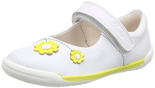 Leather Clarks Bianco Per Sneakers Softly Fst white Bimbi Jam qqrFg8