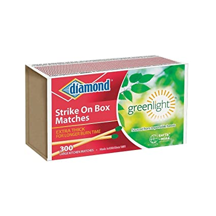 amazon com diamond wooden matches kitchen matches strike on box