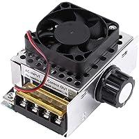Akozon Regolatore di Tensione AC 110-220V 4000W SCR Regolatore di Velocità e Termostato Motor Controller Speed Controller LED Dimmer Regolabili Trasformatore Temperatura del Motore Dimmer