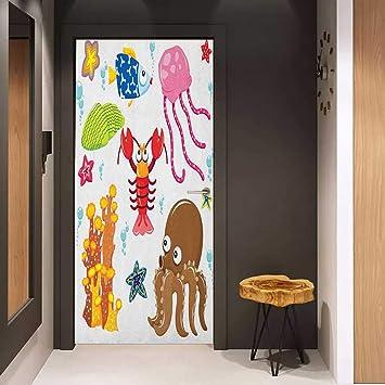 Amazon Com Toilet Door Sticker Toddler Under The Sea
