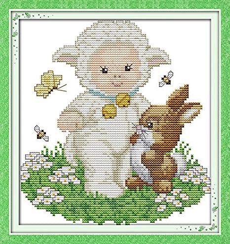 Happy Forever juego de punto de cruz para bebé, una oveja ...