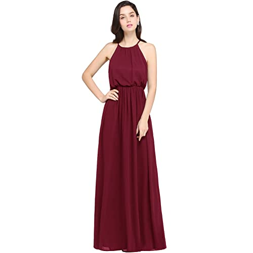 Long Burgundy Formal Dress: Amazon.com