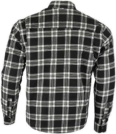 Camisa protectora de franela para motocicleta con forro de aramida multicolor negro y blanco xxx-large Bikers Gear Australia