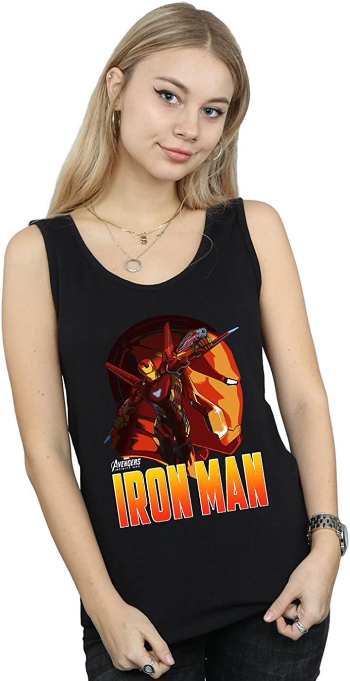 Avengers Mujer Infinity War Iron Man Character Camiseta Sin Mangas