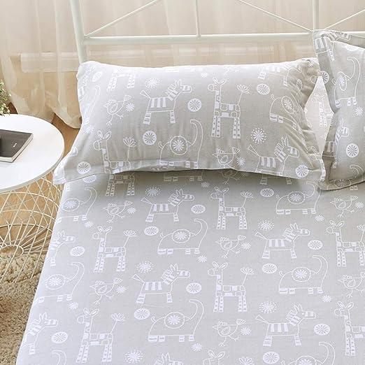 SHEETS&BED Animales Sábana encimera, Sábana de algodón Elefante ...