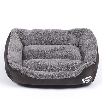 Decdeal Cama Cálida para Perros de Invierno Suave Cómodo Casa para Mascota Dormir Nido
