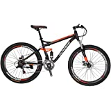 Eurobike S7 Mountain Bike 21 Speed Steel Frame 27.5 Inches Wheels Dual Suspension MTB Bicycle
