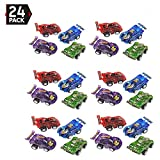 "Toys : 24 Piece 2.5"" Party Pack Assorted Pull Back Racing Cars. - Fun Gift Party Giveaway"