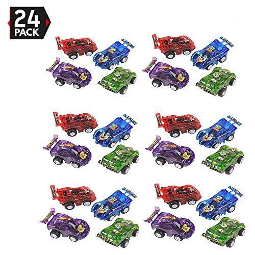 "24 Piece 2.5"" Party Pack Assorted Pull Back Racing Cars. - Fun Gift Party Giveaway"