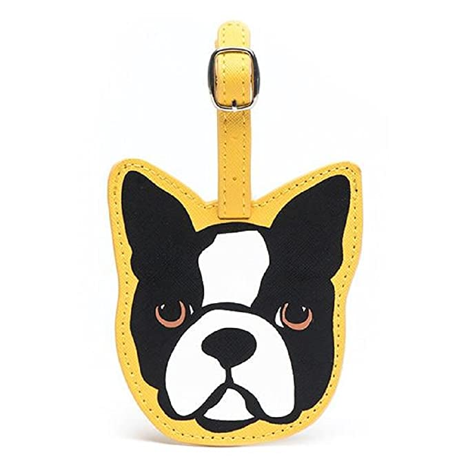 b3a590202791 Amazon.com | Marc Tetro Boston Terrier Luggage Tag | Luggage Tags