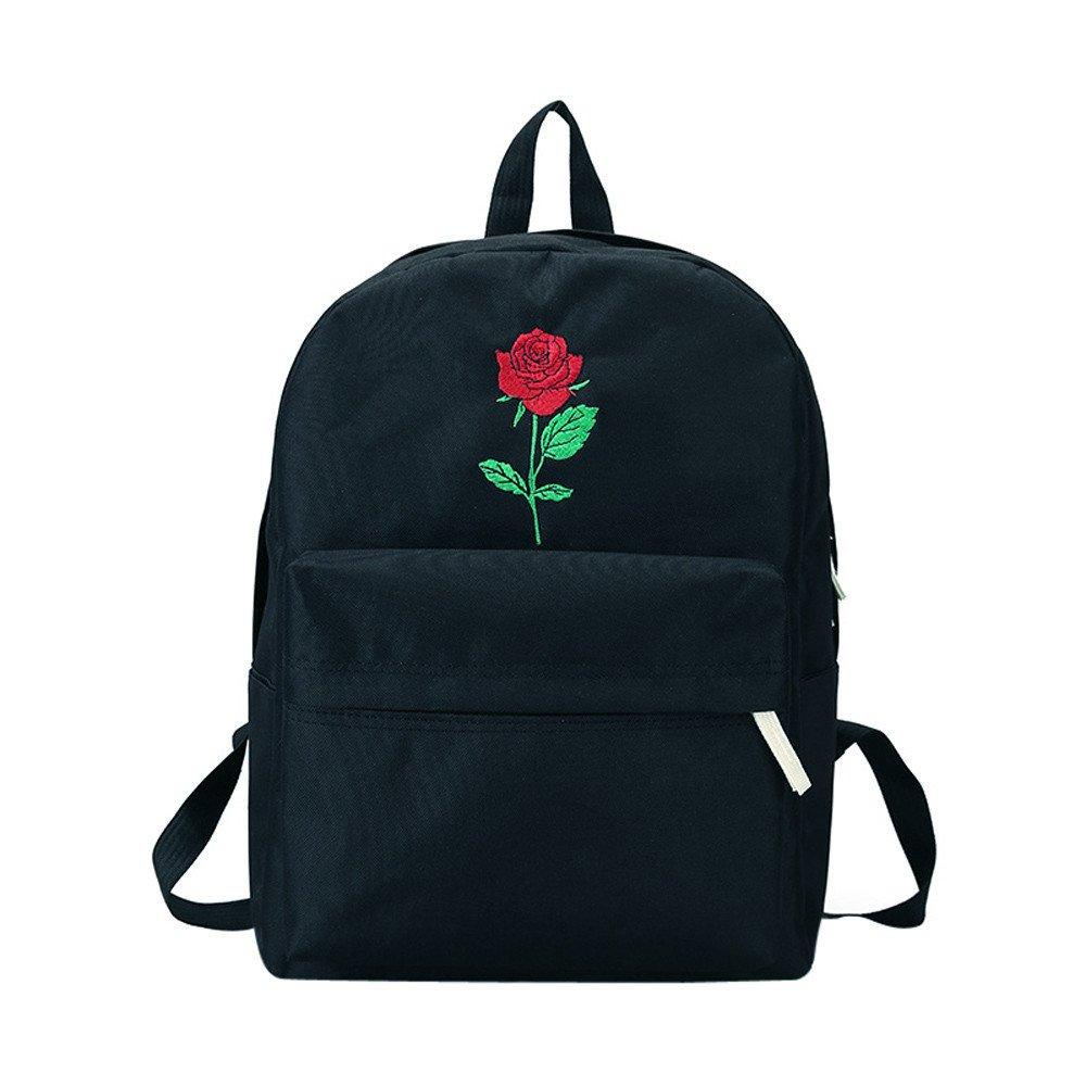 Liraly Travel Backpack,Clearance Sale! 2018 Canvas Eiffel Tower Pattern Girls Shopping Shoulder Bags Handbag Beach (Black D)