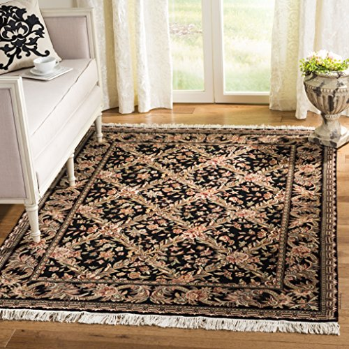 (Safavieh Royal Kerman Collection RK11A Hand-Knotted Black Wool Area Rug (12' x 15'))